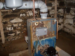 Residence in Clifton Park BEFORE new Buderus Boiler installation