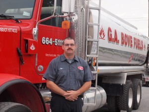 Bove Fuels Employee in front of fuel truck - 2