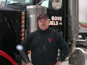 Ed Zuzick, fuel truck driver for G.A. Bove Fuels