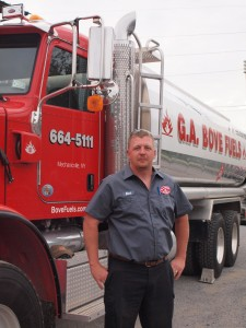 G.A. Bove Fuels employee in front of fuel truck - 3